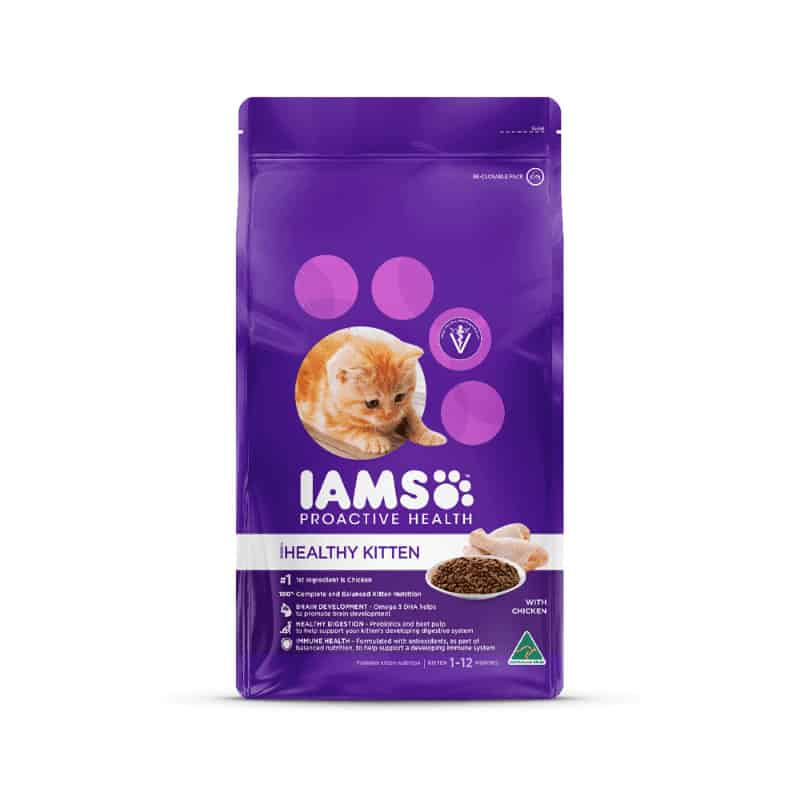 Iams kitten with chicken