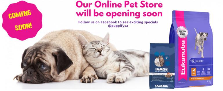 Pet store opening soon