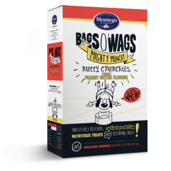 Montego Bags O' Wags Nutty Crunchies