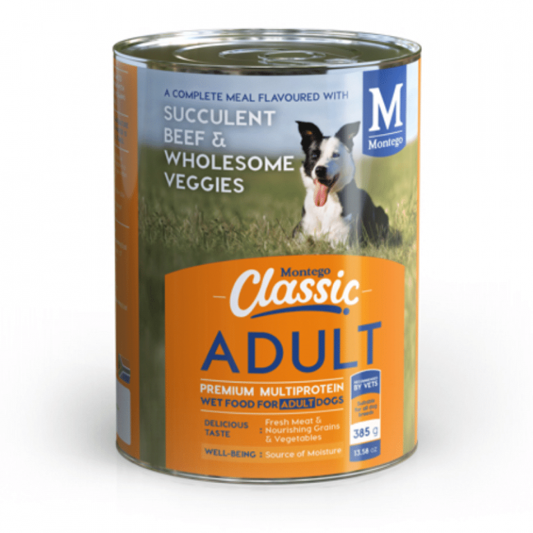 Montego classic wet adult dog succulent beef and wholesome veggies