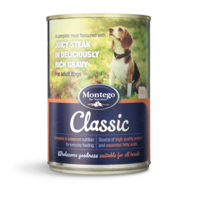 Montego wet dog food steak