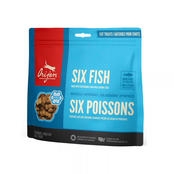 Orijen Six Fish Cat Freeze-Dried Treats