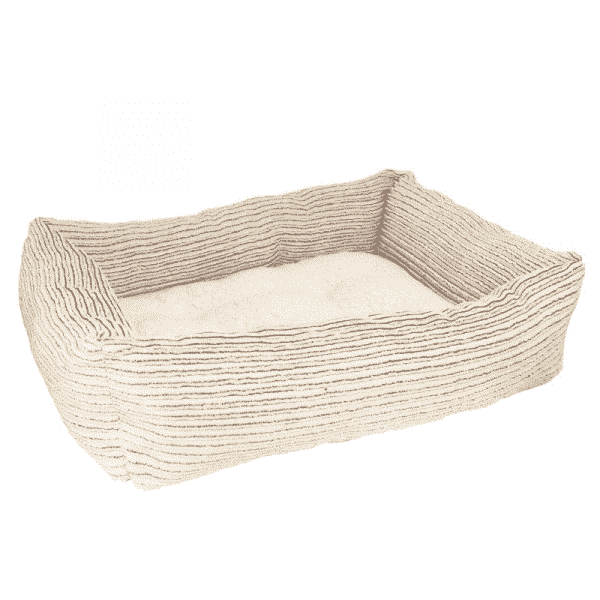 Rosewood Beige Jumbo Cord Teddy Square Bed