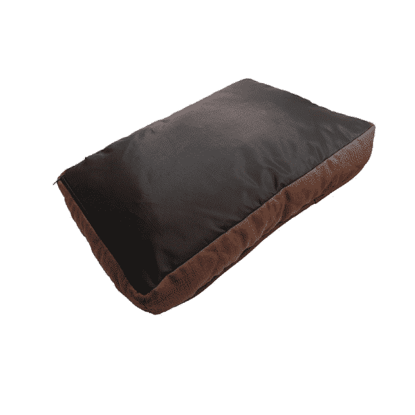 Rosewood Chocolate Tweed Mattress with dog underside