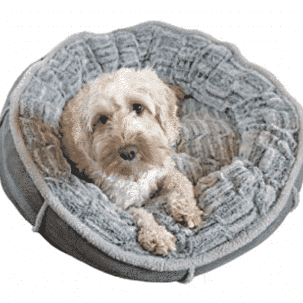 Rosewood Deep Plush Grey Donut with dog 3