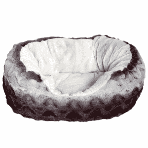 Rosewood Grey & Cream Snuggle Plush Oval