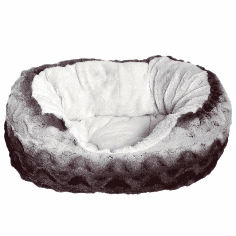 Rosewood Grey & Cream Snuggle Plush Oval