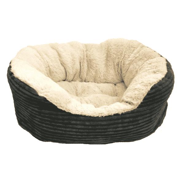 Rosewood Jumbo Cord plush Oval Bed