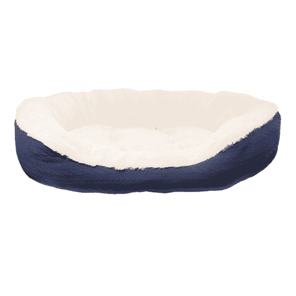 Rosewood Navy Cable Knit Oval Bed