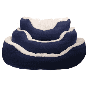 Rosewood Navy Cable Knit Oval Bed all