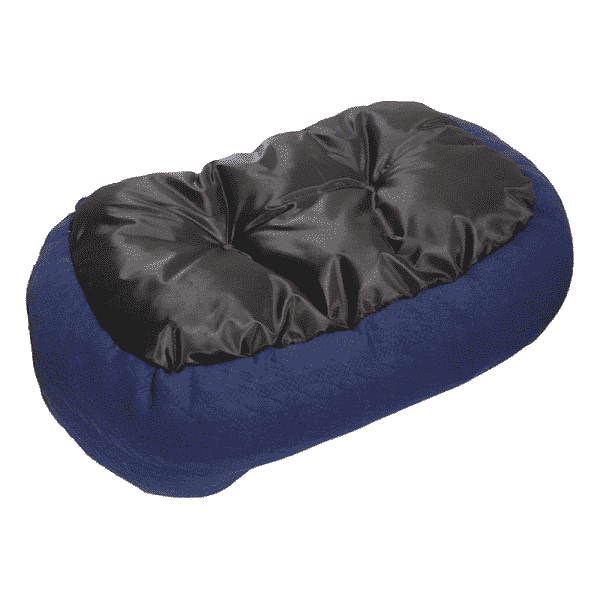 Rosewood Navy Cable Knit Oval Bed underside
