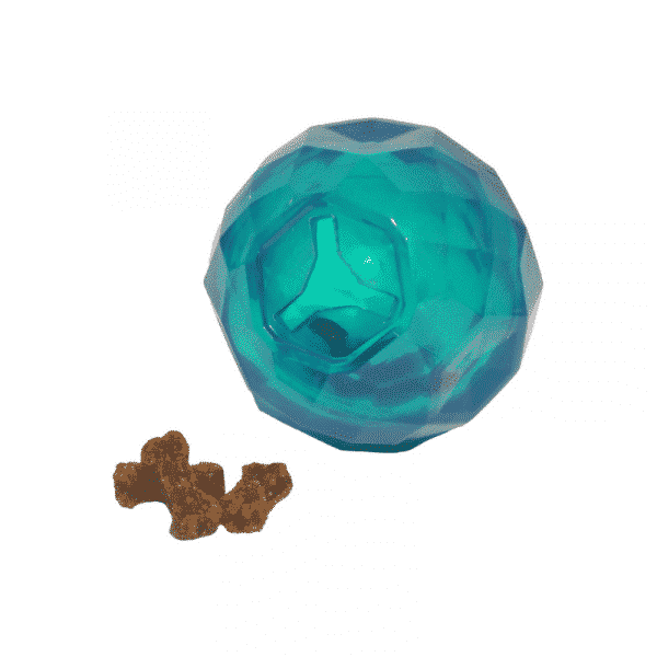 BioSafe™ Puppy Treat Ball blue dispensing