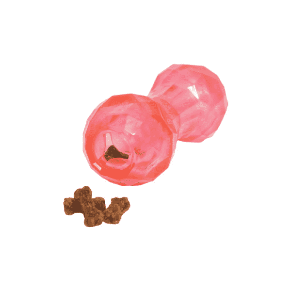 BioSafe™ Puppy Treat Dumbbell pink treat dispensing