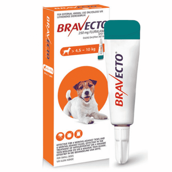 Bravecto Spot on for Dogs small