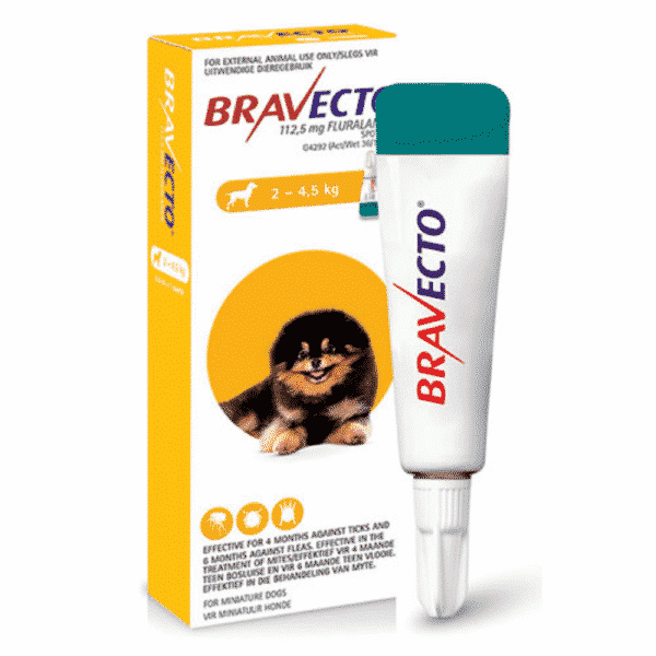 Bravecto Spot on for Dogs x small