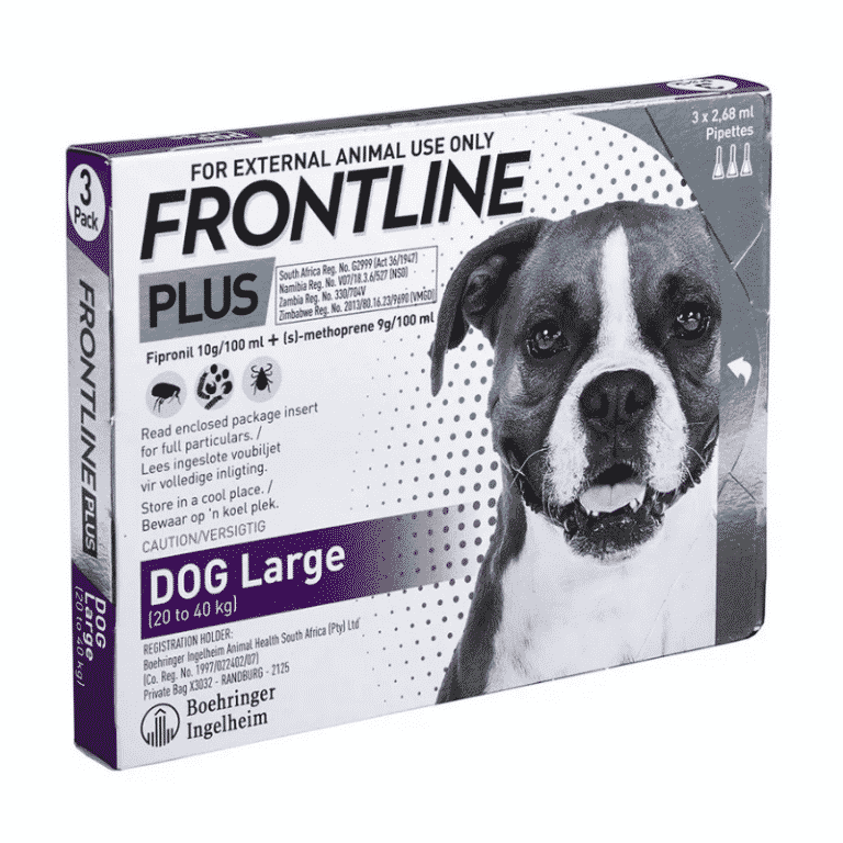 Frontline Plus Large Dog 20-40kg Tick & Flea Treatment