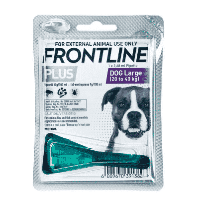 Frontline Plus Large Dog 20-40kg Tick & Flea Treatment single