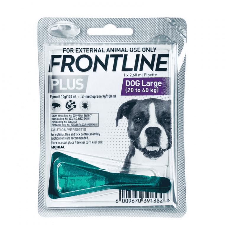 Frontline Plus Large Dog 20-40kg Tick & Flea Treatment single