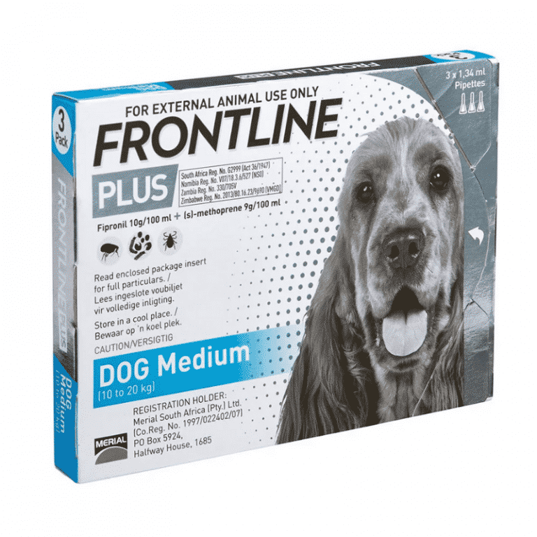 Frontline Plus Medium Dog 10-20kg Tick & Flea Treatment