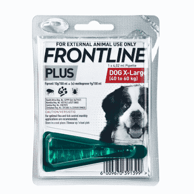 Frontline Plus X-Large Dog Tick & Flea Treatment 40-60kg single