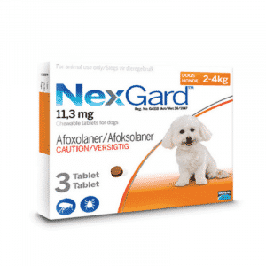 NexGard Chewable Tick & Flea Tablet for Dogs (3 Pack) xsmall