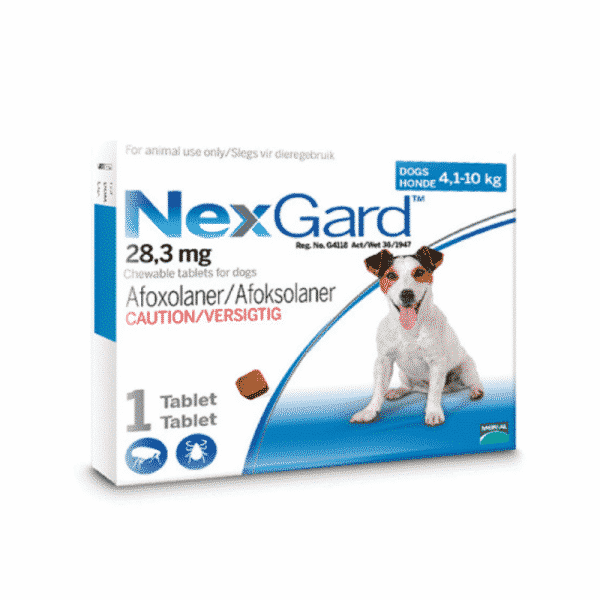 NexGard Chewable Tick & Flea Tablet for Dogs (Single Pack) small