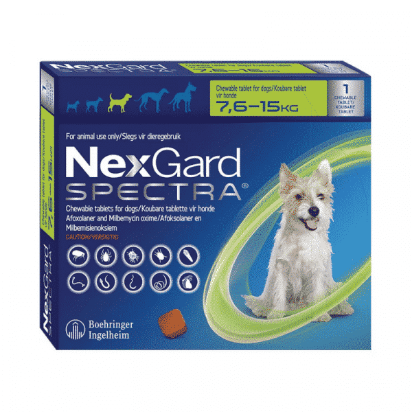 NexGard Spectra Chewable Mixed Parasite Tablets for Dogs (1 Pack) medium