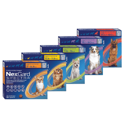 NexGard Spectra Chewable Mixed Parasite Tablets for Dogs (3 Pack)