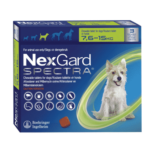 NexGard Spectra Chewable Mixed Parasite Tablets for Dogs (3 Pack) medium