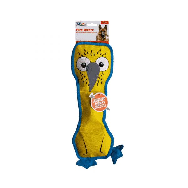 Outward Hound Fire Biterz Blue Footed Boobie 3 Squeaker packaging