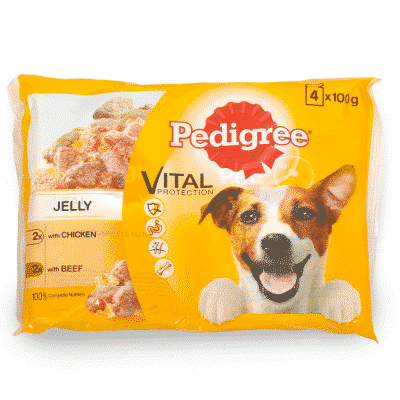 Pedigree Adult Pouches with Gravy Multi-Pack Chicken and Beef with Veg