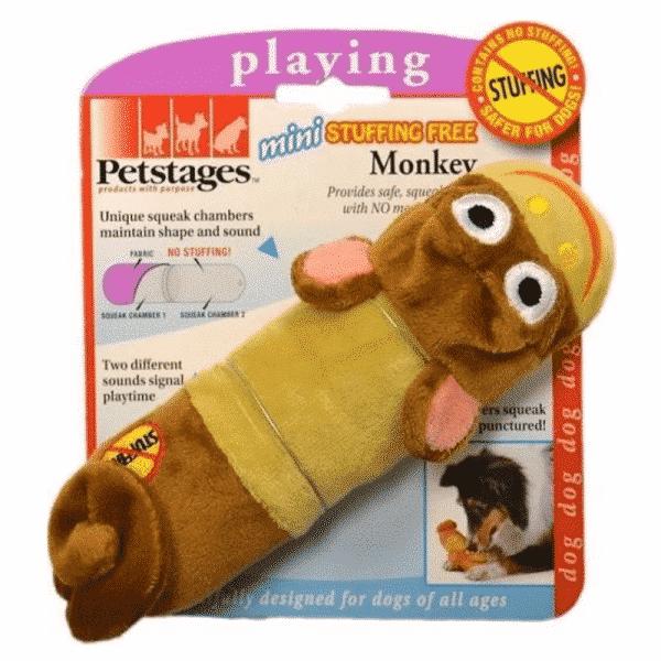 Petstages® Lil Squeak Monkey packaging