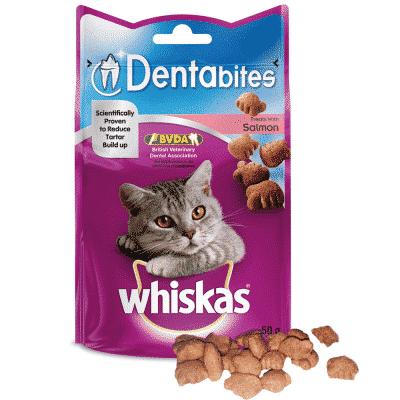 Whiskas DentaBites Cat Treats Salmon