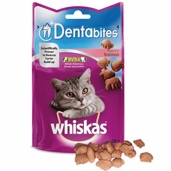 Whiskas DentaBites Cat Treats Salmon