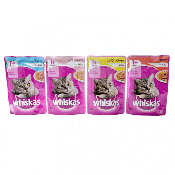 Whiskas Wet Adult Cat Food Fish & Meat Selection in Jelly 2