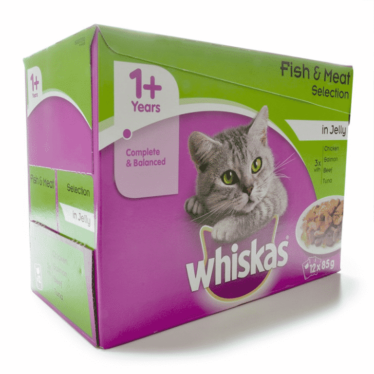 Whiskas Wet Adult Cat Food Fish & Meat Selection in Jelly