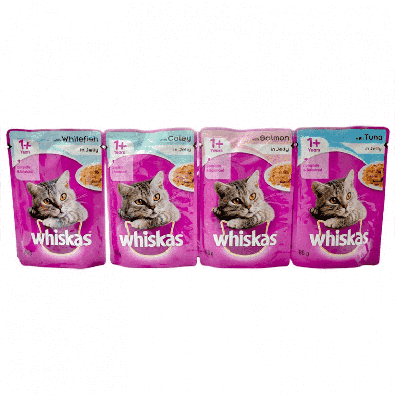Whiskas Wet Adult Cat Food Fish Selection in Jelly