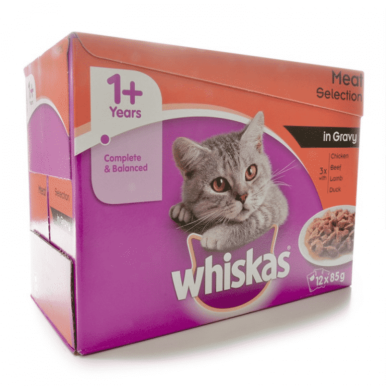 Whiskas Wet Adult Cat Food Meat Selection in Gravy