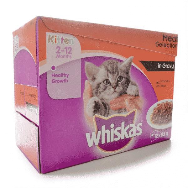 Whiskas Wet Kitten Food Meat Selection in Gravy