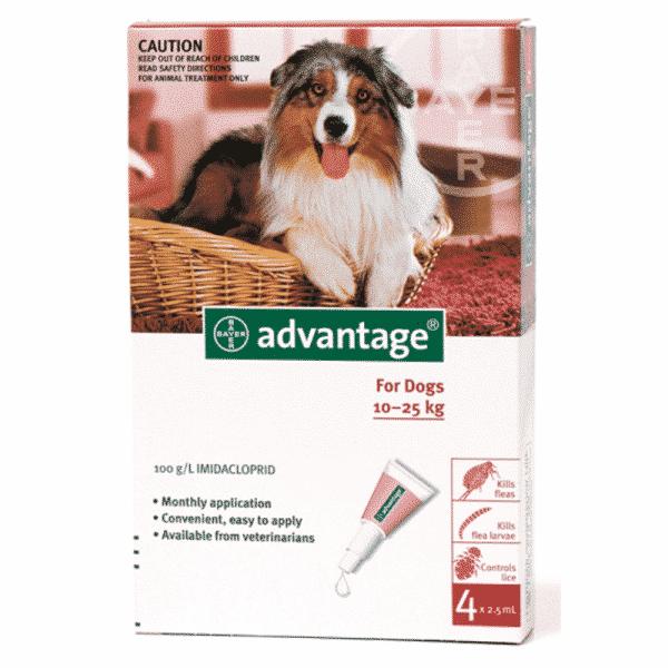 Advantage Dog 10-25kg Fleas & Lice Treatment