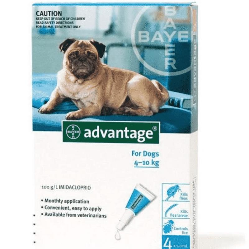 Advantage Dog 4-10kg Fleas & Lice Treatment