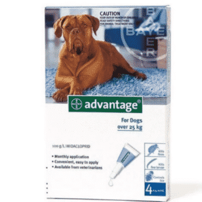 Advantage Dog Over 25kg Fleas & Lice Treatment