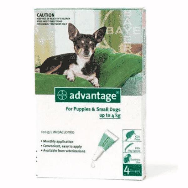 Advantage Puppy & Small Dog 0-4kg Fleas & Lice Treatment