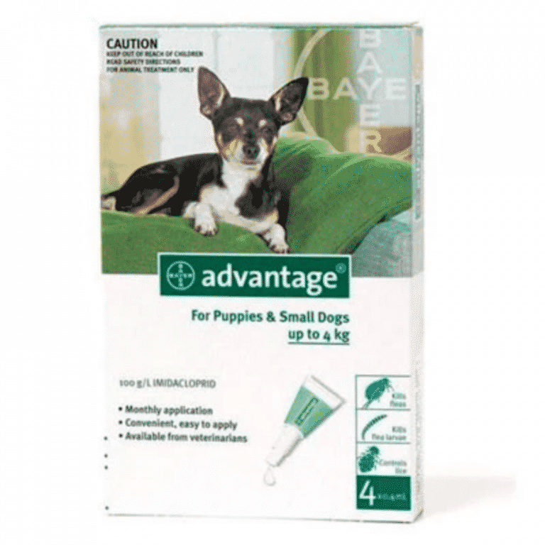 Advantage Puppy & Small Dog 0-4kg Fleas & Lice Treatment
