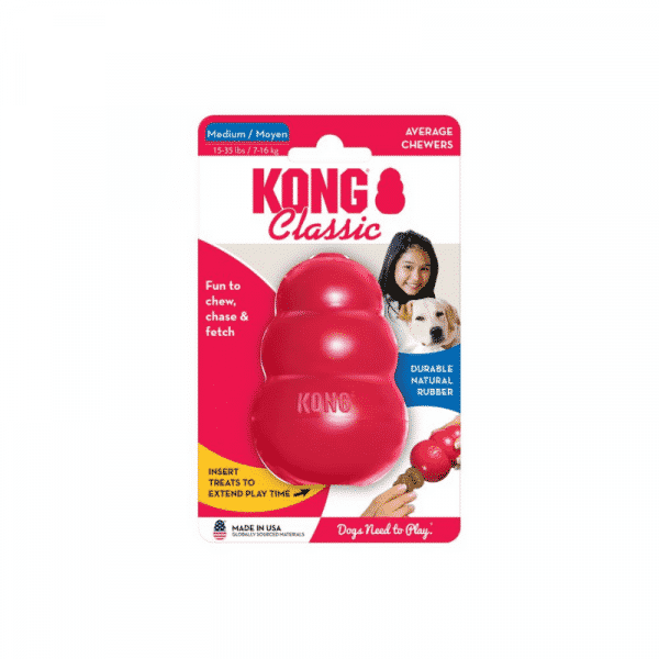 Kong Classic Rubber Dog Chew Toy medium
