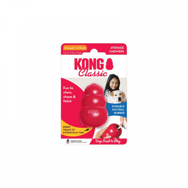 Kong Classic Rubber Dog Chew Toy xsmall