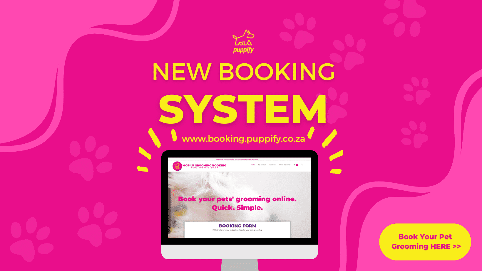 Puppify pet grooming booking system