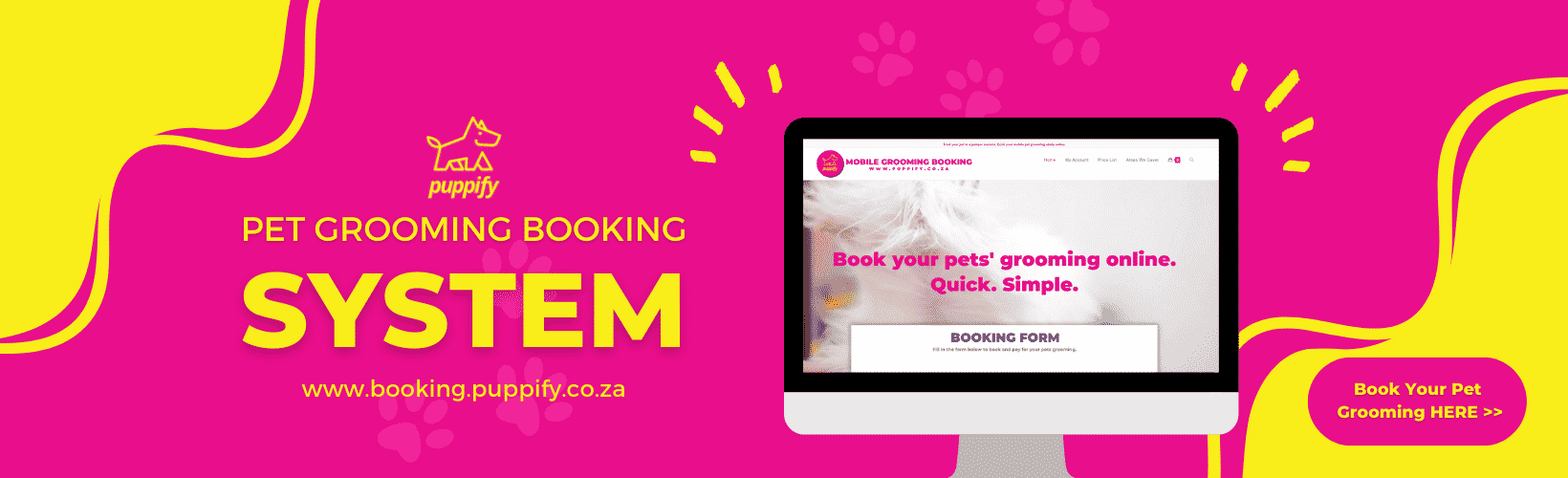 dog grooming and cat grooming online booking system